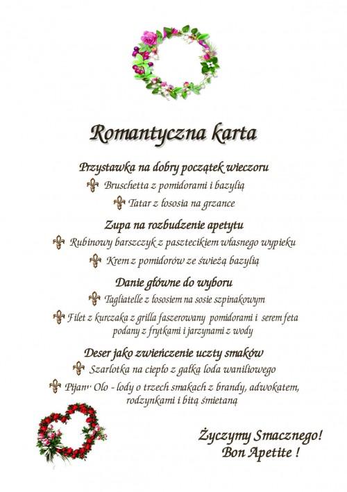 Romantyczna Karta Hotelu Aleksander