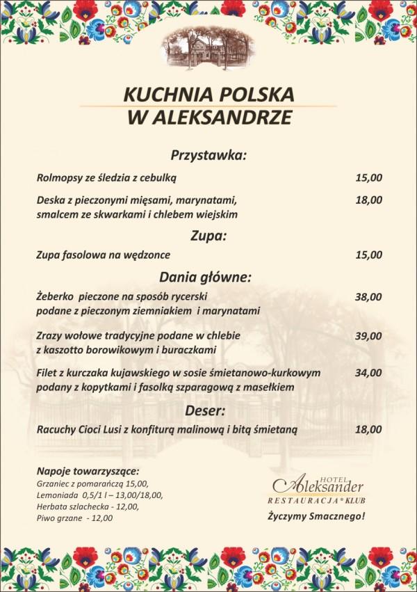 Kuchnia Polska w Aleksandrze